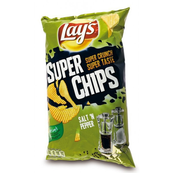 Super Chips Lays Poivre & Sel 250g - Chips - Lays