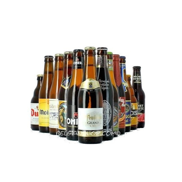 Buy-Achat-Purchase - 24 Belgian Beers Pack Gift - Beers Gifts -