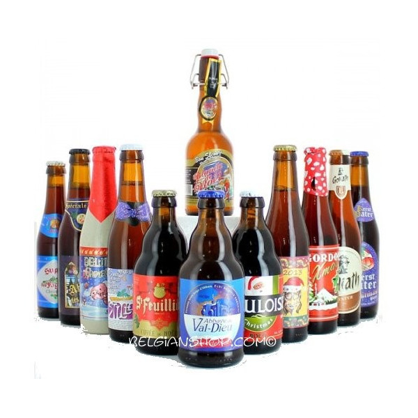 Buy-Achat-Purchase - 24 Christmas Belgian Beers Pack - Beers Gifts -
