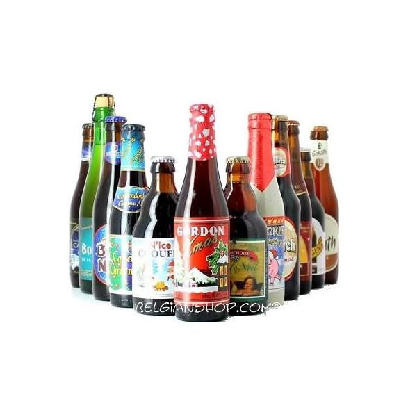 12 Christmas Belgian Beers Pack - Beers Gifts -