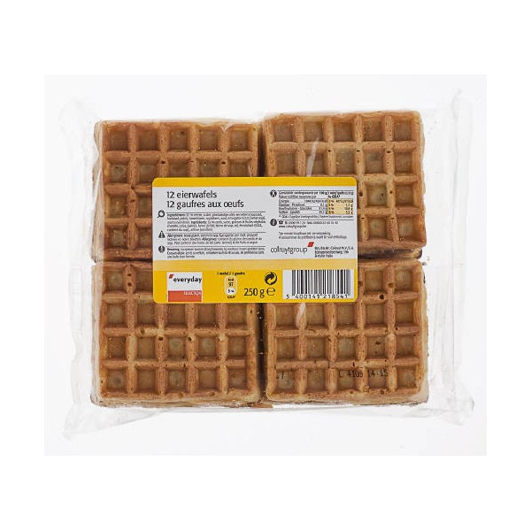 Waffles with eggs 12p  - Belgian Waffles - Everyday