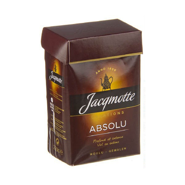 Buy-Achat-Purchase - JACQMOTTE Creations Absolu moulu 250 g - Coffee - Jacqmotte