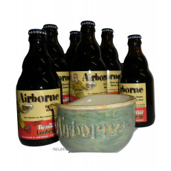 Buy-Achat-Purchase - Bastogne Airborne Pack 6x1/3L + 1 Helmet - Beers Gifts -