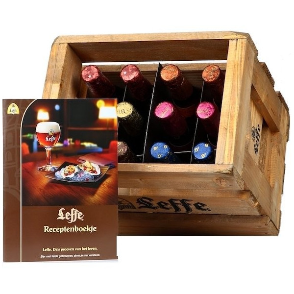 Wooden Tasting Pack Leffe 6 X 2 X 33cl - Beers Gifts - Leffe