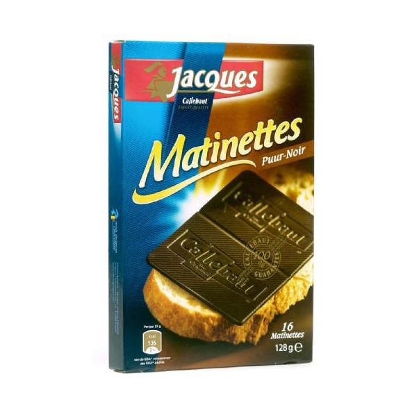 JACQUES Matinettes chocolat noir 128 g - Jacques-Callebaut - Jacques