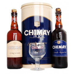 Metal Chimay 2X75cl + 1 Glass - Home -