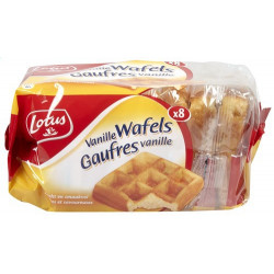 Buy-Achat-Purchase - LOTUS 8 waffles vanille 224 g - Waffles - Lotus