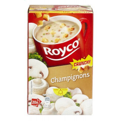 Buy-Achat-Purchase - ROYCO® MINUTE SOUP CRUNCHY Champignons X 20 - Soups - Royco