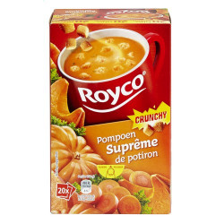 ROYCO® MINUTE SOUP CRUNCHY Suprême de Potiron X 20 - Soups - Royco