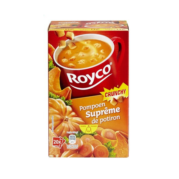 Buy-Achat-Purchase - ROYCO® MINUTE SOUP CRUNCHY Suprême de Potiron X 20 - Soups - Royco