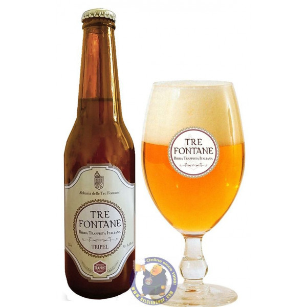 Buy-Achat-Purchase - Tre Fontane Trappist Tripel 8.5° - 1/3L - Trappist beers -