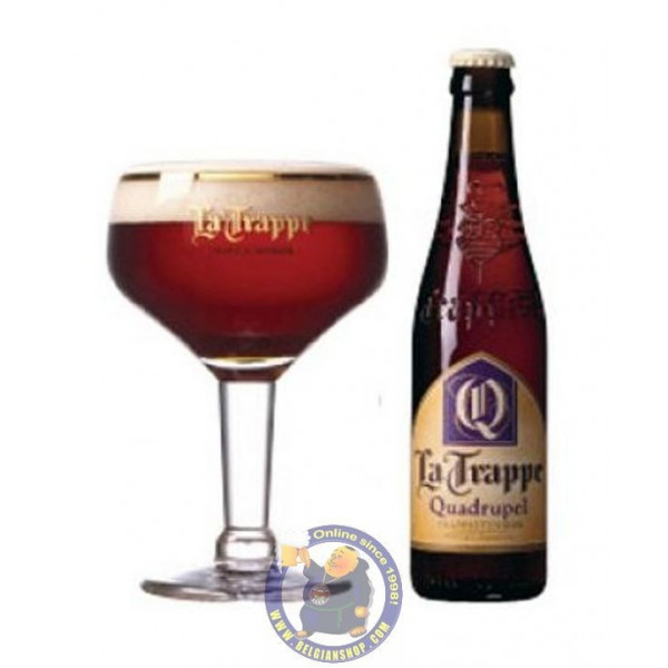 Buy-Achat-Purchase - La Trappe Quadrupel 10° - 1/3L  - Trappist beers -