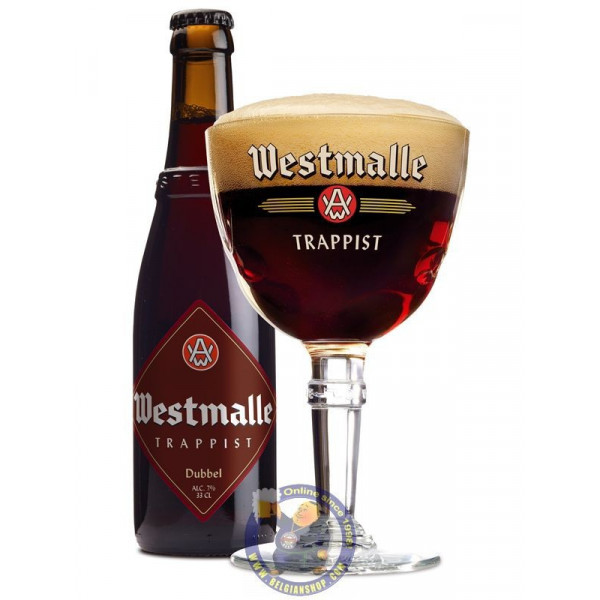 Westmalle Dubbel 7°-1/3L - Trappist beers -