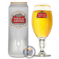 Buy-Achat-Purchase - Stella Artois 5.2° - 44cl CAN - Pils - AB-Inbev