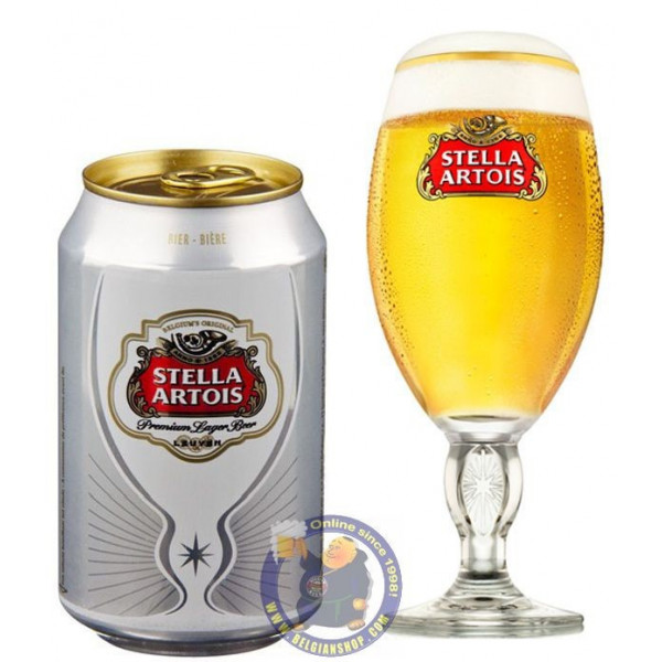 Buy-Achat-Purchase - Stella Artois 5.2° - 33cl CAN - Pils - AB-Inbev