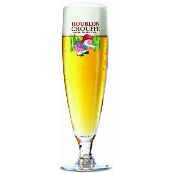 Chouffe Houblon Dobbelen IPA Tripel Glass - Glasses -