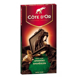Buy-Achat-Purchase - Cote d'Or Noir Amandes 200g - Cote d'Or - Cote D'OR