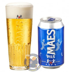 Buy-Achat-Purchase - Maes 5,2° - 33Cl - Can - Pils -