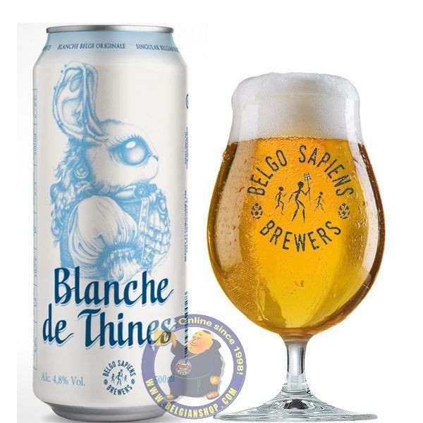 Buy-Achat-Purchase - Belgo Sapiens Blanche de Thines 4.8° - 50CL CAN - White beers -