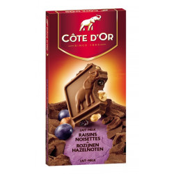 Buy-Achat-Purchase - Cote d'Or Lait Raisins Noisettes 200g  - Cote d'Or - Cote D'OR