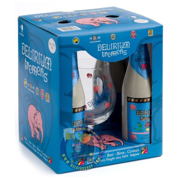Delirium Pack 4x33cl + 1 glass - Home -