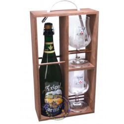 Wooden Pack Karmeliet 75cl + 2 glasses - Beers Gifts -