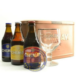 Chimay Pack Metal 3x33cl+1glass - Beers Gifts -