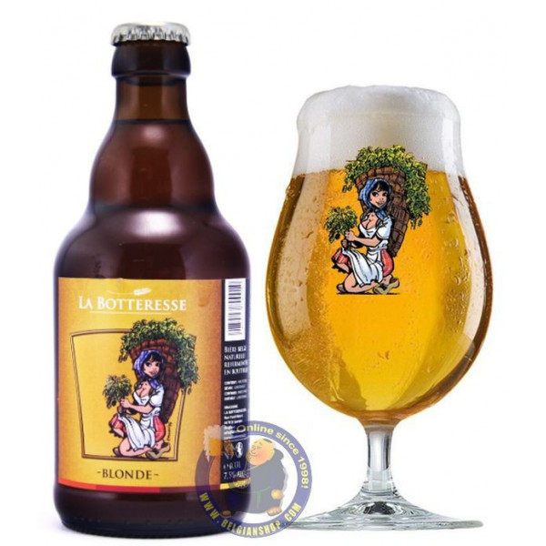Buy-Achat-Purchase - Botteresse Blond 7,5° - 1/3L - Special beers -