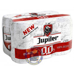 Jupiler 0,0% 0° - 6 X 33cl CAN - Pils -