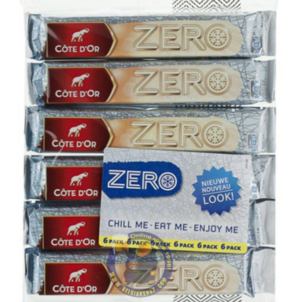 Buy-Achat-Purchase - Cote d'Or - Meurisse Zero White-Blanc 6x50g - Cote d'Or - Cote D'OR