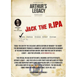 Buy-Achat-Purchase - Arthur's Legacy 05. Jack the R.IPA 8° - 3/4L - Special beers -