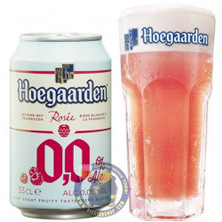 Hoegaarden Rosée 0.0 33cl - can - Geuze Lambic Fruits -