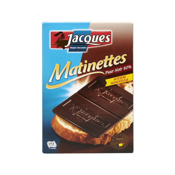 JACQUES Matinettes extra dark 60% 128G - Jacques-Callebaut - Jacques