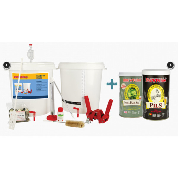 Buy-Achat-Purchase - Starter kit Deluxe + Beer kits Pils and IPA - Starter Kits -