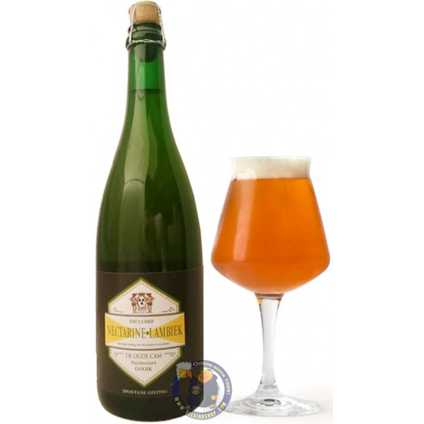 Buy-Achat-Purchase - Nectarine Lambiek De Cam 6.5° - 3/4L - Geuze Lambic Fruits -