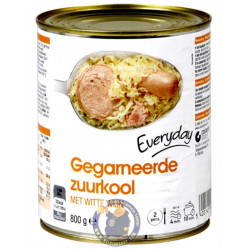 Choucroute Garnie - Garnished Sauerkraut 800 gr - Ready Meal - Everyday