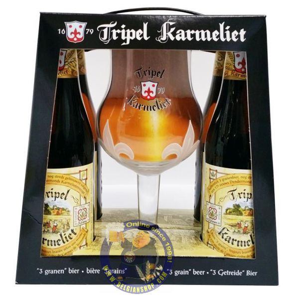 Pack Karmeliet 4x33cl - 1 glass - Beers Gifts -