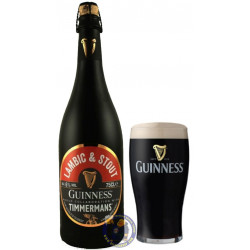 Timmermans-Guinness Lambic & Stout 6° - 3/4L - Geuze Lambic Fruits -