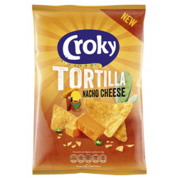 Buy-Achat-Purchase - Croky Tortilla Nacho Cheese 170g - Chips - Croky