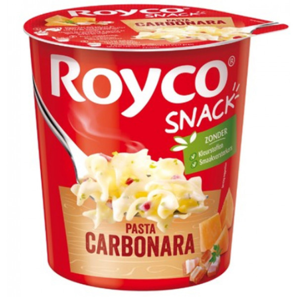 Buy-Achat-Purchase - Royco Snack Pasta Carbonara 70 gr - Belgian Pasta - Royco