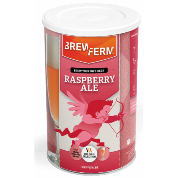 Beer kit Brewferm Raspberry for 12L - Brewing Kits -