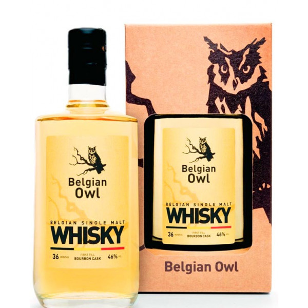 Buy-Achat-Purchase - BELGIAN OWL Single Malt 36 months - 46° - 50 CL - Belgian Whiskeys -