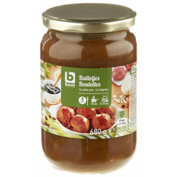 Buy-Achat-Purchase - Boulettes Liegeoises - Liegeoises Meatballs 680g - Ready Meal - BONI Selection