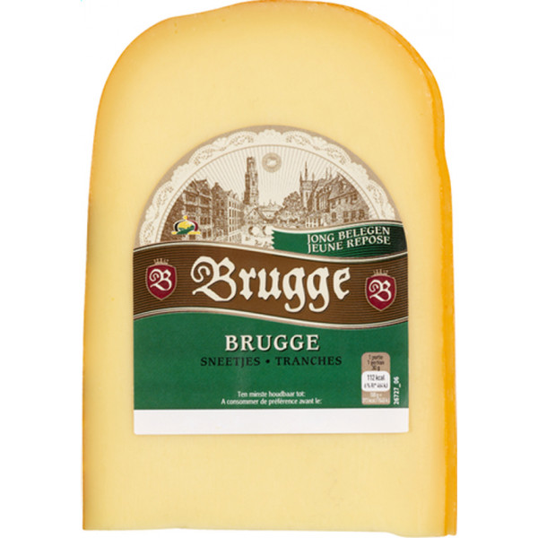 Buy-Achat-Purchase - Jeune BRUGGE Young Gouda slices ± 300g - Belgian Cheeses -