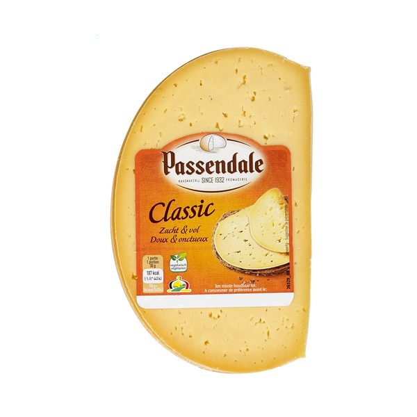 PASSENDALE Classic Cheese - slices +/- 350g - Belgian Cheeses -