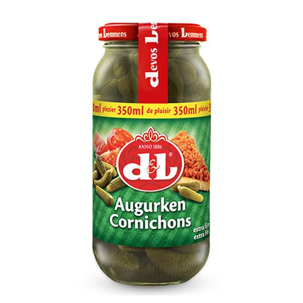 Buy-Achat-Purchase - DEVOS&LEMMENS Cornichons ext.-fins 365 g - Sauces - Devos&Lemmens