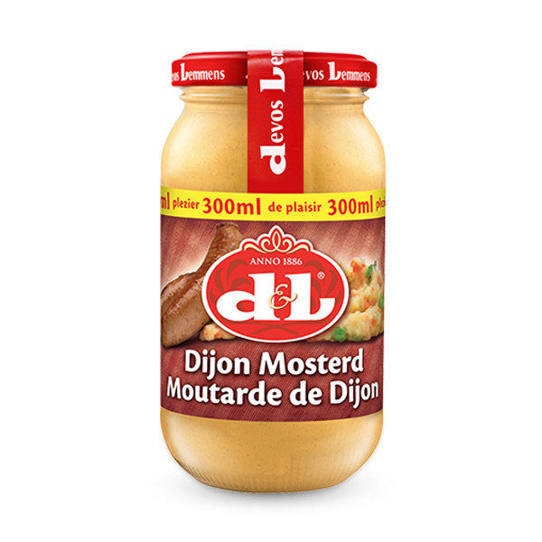Devos&Lemmens Dijon Mustard - 300ml - Sauces - Devos&Lemmens