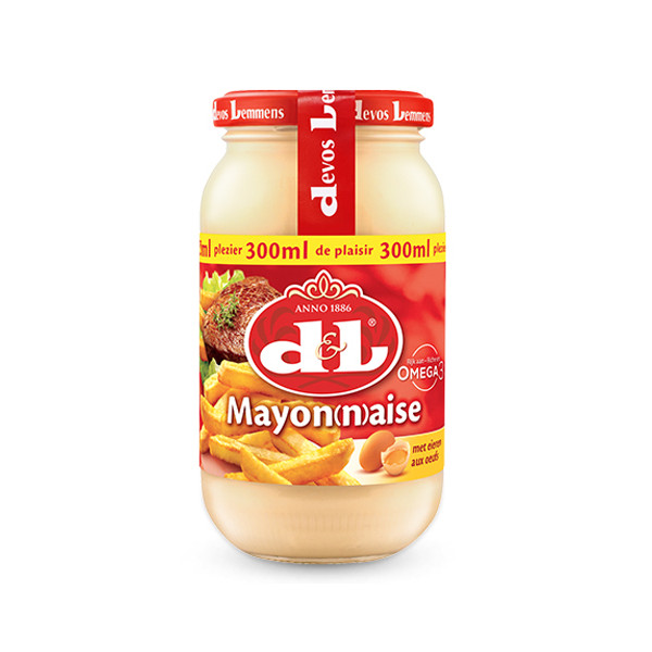 Buy-Achat-Purchase - Devos&Lemmens Mayonnaise with eggs - 300ml - Sauces - Devos&Lemmens