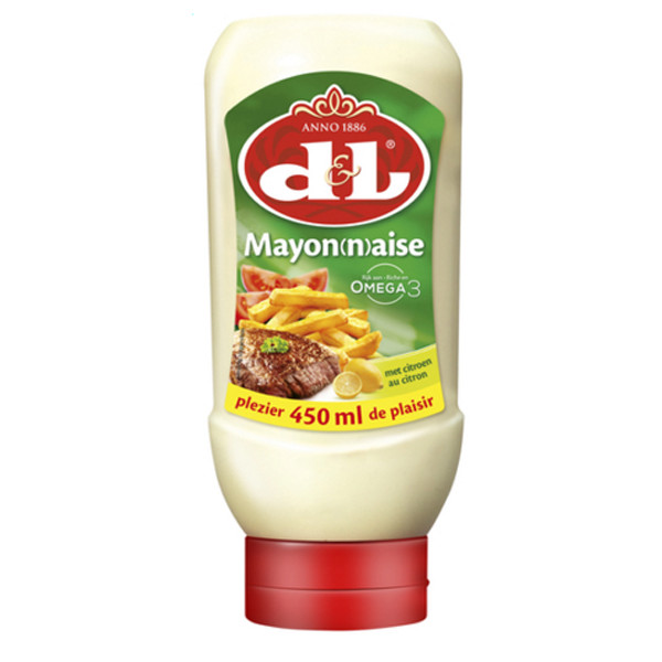 Devos&Lemmens Mayonnaise with lemon - 450ml - Squeeze - Sauces - Devos&Lemmens