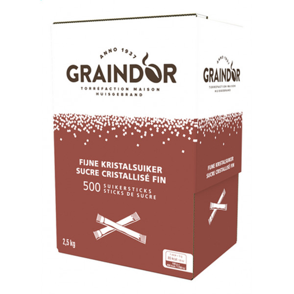 Graindor Fine Sugar Sticks - 500pcs - Sugars - Graindor